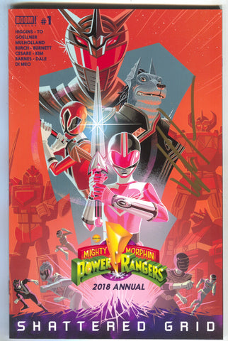Mighty Morphin Power Rangers Annual 1 2018 Signed Kyle Higgins Shattered Grid