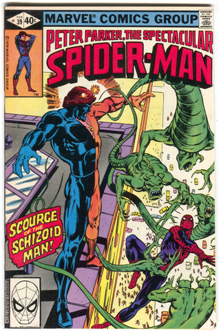 Spectacular Spider-Man 39 Marvel 1980 VF Morbius Frightful Four Electro Sandman