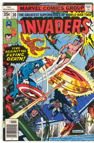 Invaders 30 1st Series Marvel 1978 FN Captain America Namor Union Jack Nazi