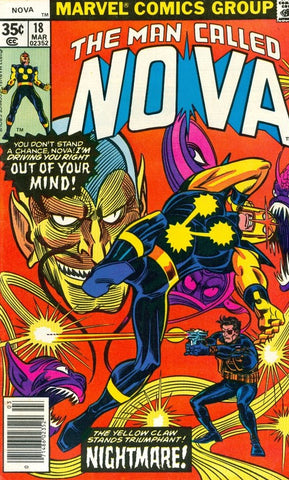 Man Called Nova 18 Marvel 1977 Yellow Claw