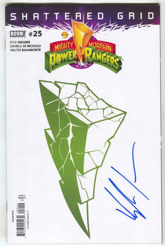 Mighty Morphin Power Rangers 25 2nd Print Goni Montes Variant Signed Kyle Higgins Shattered Grid