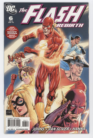 Flash Rebirth #6 A (Of 6) DC 2010 Ethan Van Sciver GeoFF Johns