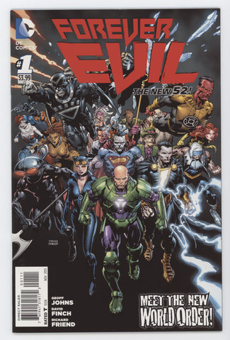 Forever Evil #1 A (Of 7) DC 2013 David Finch GeoFF Johns New 52