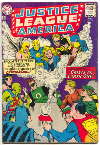 Justice League Of America 21 DC 1963 FN 1st Hourman Dr Fate JSA Crisis Batman