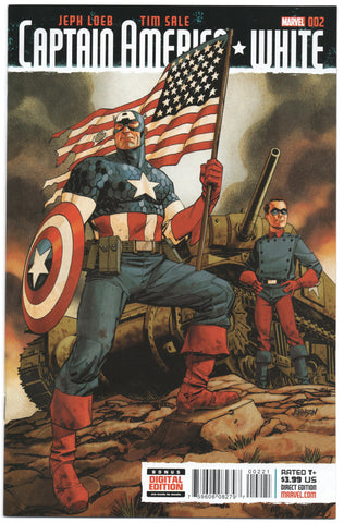 Captain America White 2 B Marvel 2015 NM 1:25 Dave Johnson Variant Bucky USA Flag