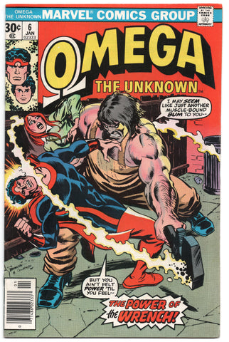 Omega The Unknown 6 Marvel 1977 FN VF John Romita Dave Cockrum