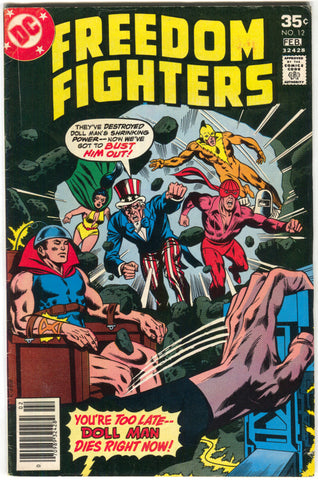 Freedom Fighters 12 DC 1978 FN Rich Buckler 1st Firebrand Costume Origin