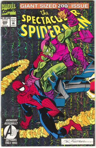 Spectacular Spider-Man 200 Marvel 1993 VF NM Death Green Goblin Foil Harry Osborn