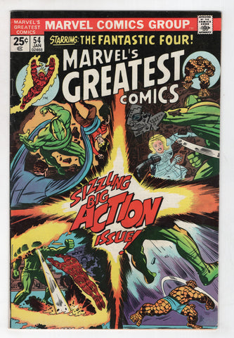 Marvels Greatest Comics 54 1975 FN Fantastic Four 71 Jack Kirby
