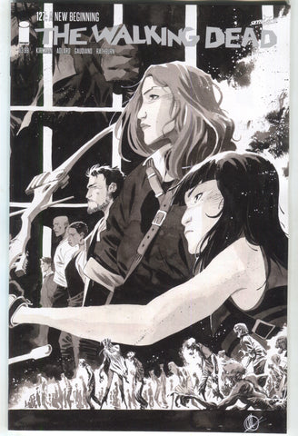 Walking Dead 127 Image 2018 15th Anniversary Matteo Scalera BW Variant Blind Bag