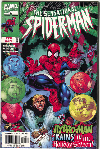 Sensational Spider-Man 24 Marvel 1998 VF Christmas Issue Hydro Man