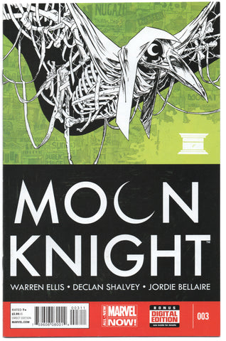 Moon Knight 3 5th Series Marvel 2014 NM- Warren Ellis Declan Shalvey