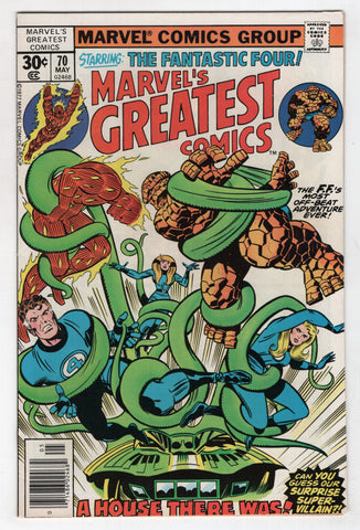 Marvels Greatest Comics 70 1977 VF Fantastic Four 88 Jack Kirby Mole Man