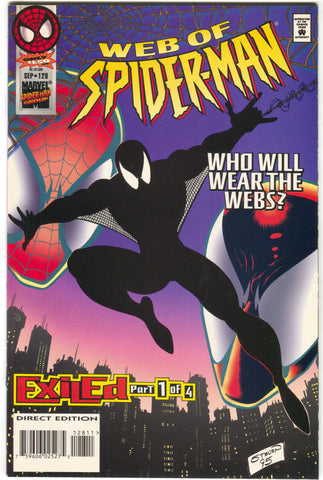 Web Of Spider-Man 128 Marvel 1995 NM Exiled 1 Scarlet Spider Black Cat