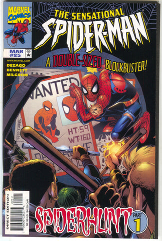 Sensational Spider-Man 25 A Marvel 1998 NM Spiderhunt 1 Wanted Poster