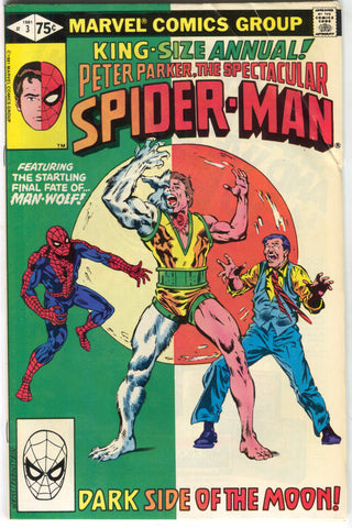 Spectacular Spider-Man Annual 3 Marvel 1981 FN VF Man-Wolf Morbius Moon
