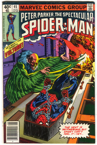 Spectacular Spider-Man 45 Marvel 1980 FN VF Vulture Coffin Creamation Bondage