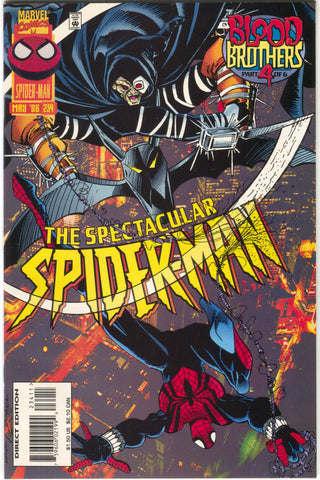 Spectacular Spider-Man 234 Marvel 1996 NM Hobgoblin Blood Brothers 4 Sal Busceama