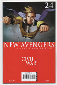 New Avengers 24 1st Series Marvel 2006 NM Civil War Sentry Adi Granov