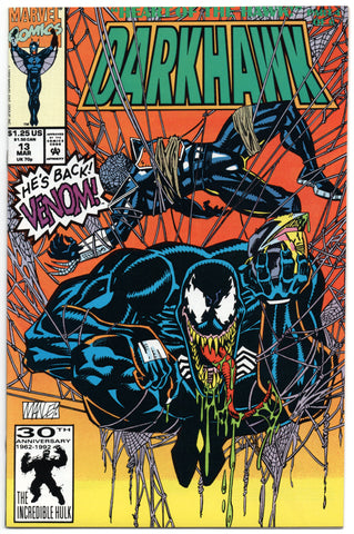 Darkhawk 13 Marvel 1992 NM Venom