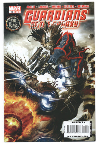 Guardians Of The Galaxy 10 2nd Series Marvel 2009 NM Clint Langley War Of Kings