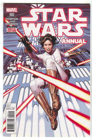 Star Wars Annual 2 Marvel 2017 NM Mike Mayhew Princess Leia