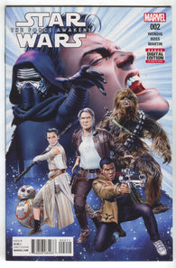 Star Wars Force Awakens 2 Marvel 2016 NM Mike Mayhew