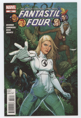 Fantastic Four #608 3rd Series Marvel 2012 FRANK CHO JONATHAN HICKMAN