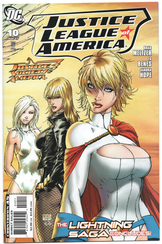 Justice League Of America 10 A DC 2007 NM Michael Turner Power Girl Black Canary