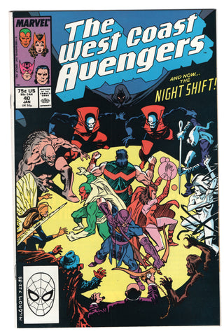 West Coast Avengers 40 Marvel 1989 NM Hawkeye Scarlet Witch Moon Knight