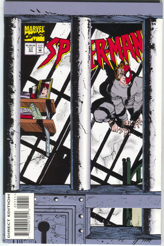 Spider-Man 57 1st Series Marvel 1995 NM Aftershocks Die-Cut Jail Cell John Romita