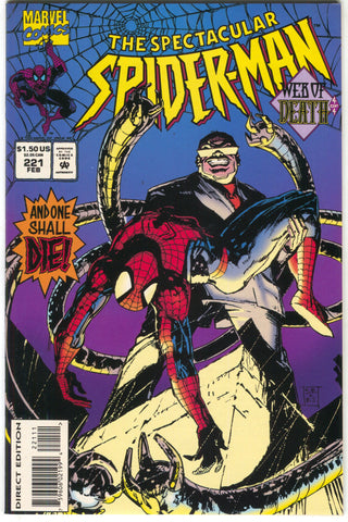 Spectacular Spider-Man 221 Marvel 1995 NM Web Of Death 4 Bill Sienkiewicz
