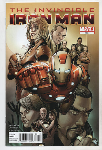 Invincible Iron Man #500 Point One Marvel 2011 Salvador Larroca Matt Fraction