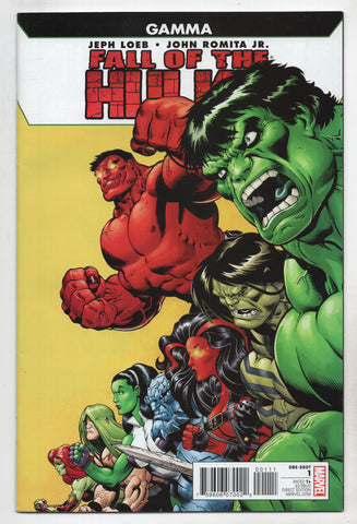 Fall Of Hulks Gamma Foh #1 A Marvel 2010 Jeph Loeb Ed Mcguinness