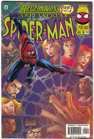 Spectacular Spider-Man 240 A Marvel 1996 NM Revelations 1 Luke Ross
