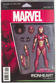 Invincible Iron Man 1 Marvel 2016 NM John Tyler Christopher Action Figure Variant Ironheart