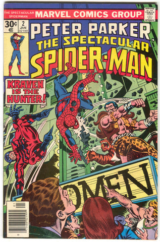 Spectacular Spider-Man 2 Marvel 1977 VF Kraven The Hunter Tarantula