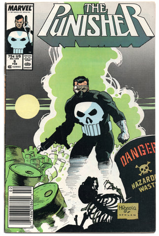 Punisher 6 2nd Series Marvel 1988 FN VF Mike Mignola Hazardous Waste
