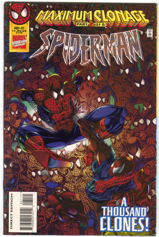 Spider-Man 61 1st Series Marvel 1995 NM Maximum Clonage 4 Scarlet Spider