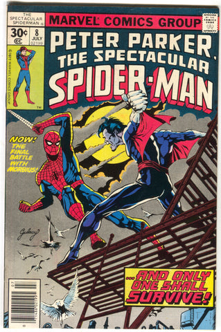 Spectacular Spider-Man 8 Marvel 1977 VF Morbius Paul Gulacy
