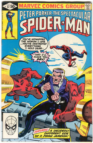 Spectacular Spider-Man 57 Marvel 1981 FN VF Will O The Wisp Frank Miller