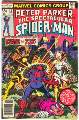 Spectacular Spider-Man 12 Marvel 1977 FN VF Brother Power Sister Sun