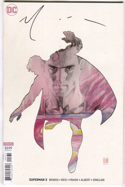 Superman 3 C DC 2018 NM Signed David Mack Variant LTD 10 Brian Michael Bendis
