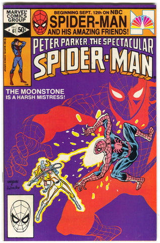 Spectacular Spider-Man 61 Marvel 1981 VF Moonstone Hulk Ed Hannigan