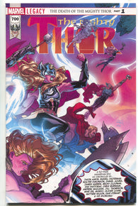 Mighty Thor 700 Marvel Legacy 2017 NM Russell Dauterman Jason Aaron