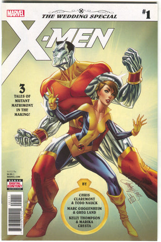 X-MEN WEDDING SPECIAL #1 J Scott Campbell Colossus Kitty Pryde Shadowcat (05/16/2018)