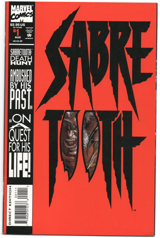 Sabretooth 1 Marvel 1992 VF NM Mark Texeira Wolverine Mystique