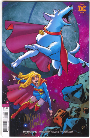 Supergirl 22 B DC 2018 NM Amanda Conner Variant Signed Marc Andreyko