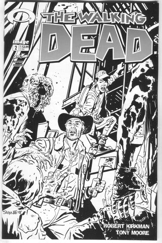 Walking Dead 2 Image 2018 15th Anniversary Chris Samnee B&W Variant Blind Bag