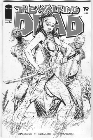 Walking Dead 19 Image 2018 15th Anniversary J Scott Campbell B&W Variant Blind Bag